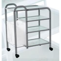 Столик косметологический (металл/стекло) - н04