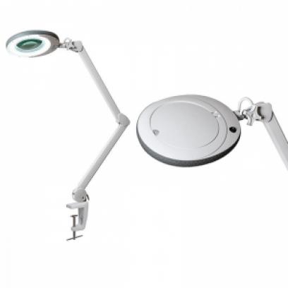 Лампа-лупа LED (48 светодиодов 5 диоптрии) кронштейн серый ободок